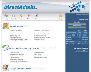 Jaki hosting wybrać? - Wygląd panelu administracyjnego mojego seohost