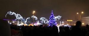 światła miasta Siedlce nocą